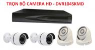 DVR104SKMD. Bộ 4 camera 720p, hồng ngoại và đầu ghi hình.