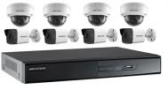 HIK-IP-L08. Bộ 8 camera IP và đầu ghi hình, Full HD.