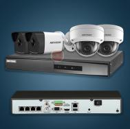 Bộ 4 camera IP và 1 đầu ghi Hikvision full HD