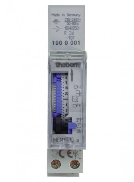 MEM 190 a. Công tắc thời gian, hàng tuần/2h, 1 kênh, pin 72h.