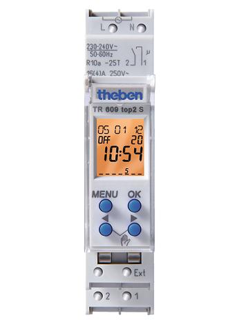 TR 609 top2 S. Công tắc thời gian KTS, hàng tuần/1 giây, 1 kênh, hỗ trợ thẻ nhớ.