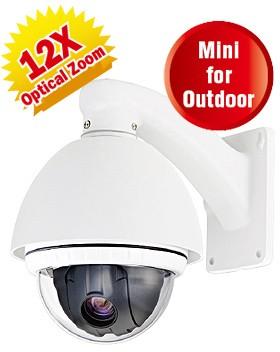 15-CD512HW - Camera bán cầu, quay, quét, Zoom (PTZ)